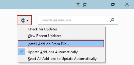 install add on