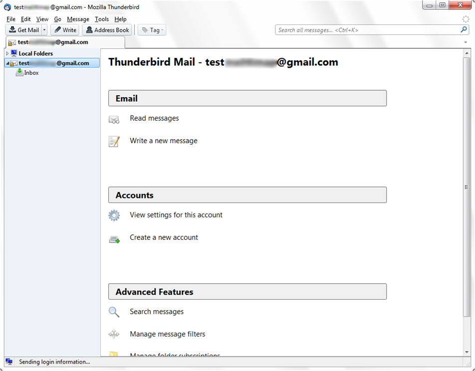 read messages in thunderbird