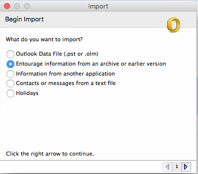 import rge into outlook for mac 2011
