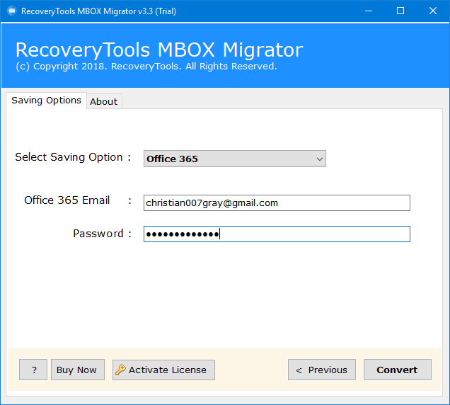 mbox to office 365