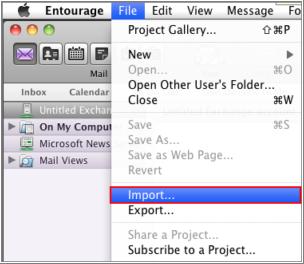 import mbox to entourage