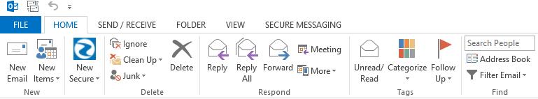 Run Outlook & select file