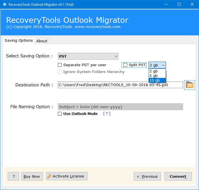 convert old outlook pst file to 2013
