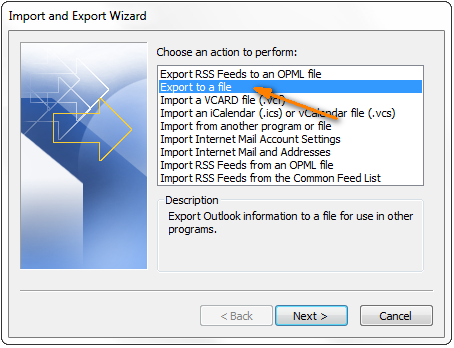 import outlook contacts to excel