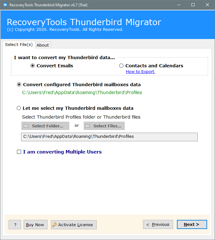 export thunderbird to gmail