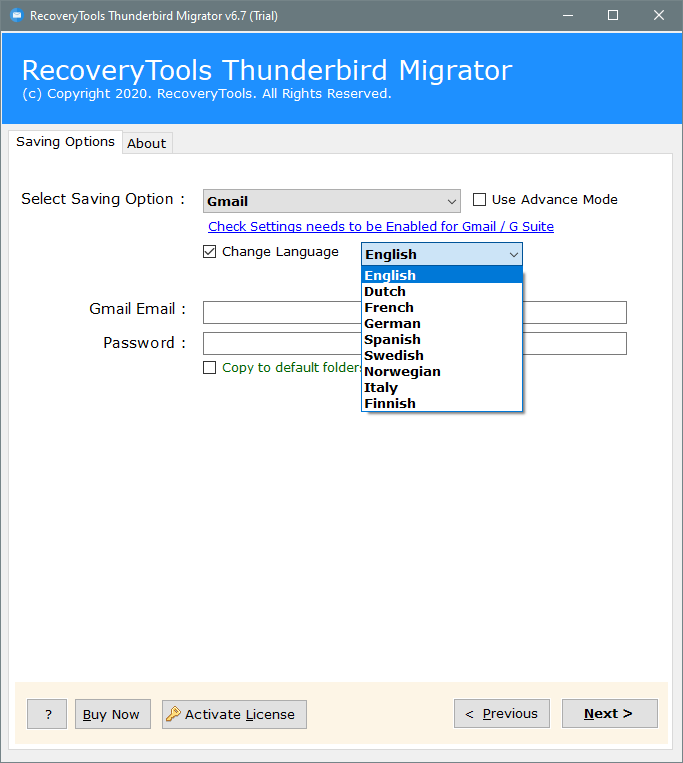 thunderbird to google workspace migration