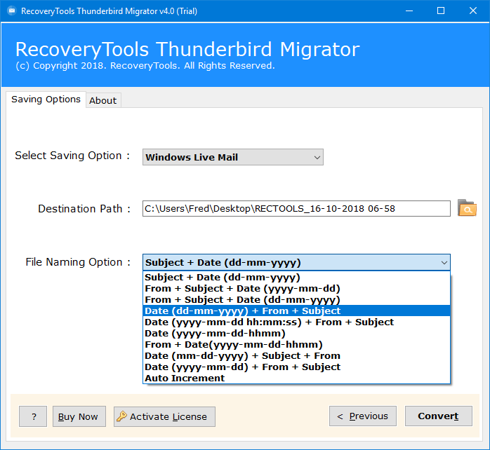 exporting emails from thunderbird to windows live mail