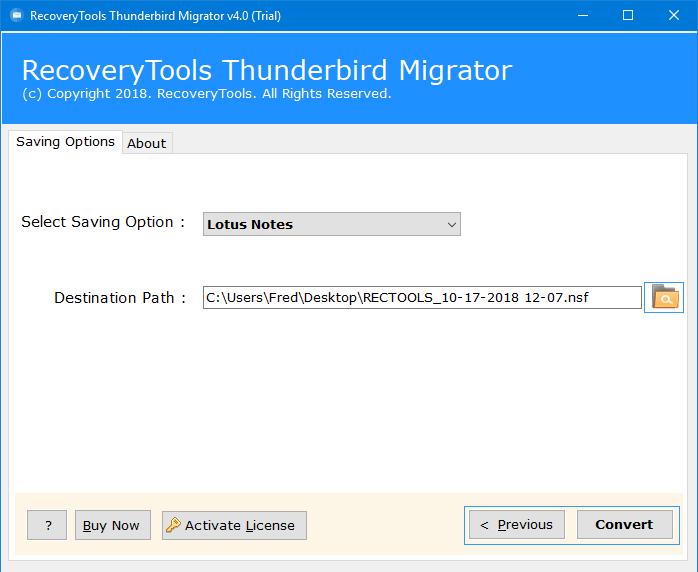 thunderbird import lotus notes nsf