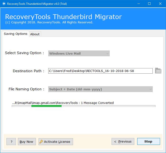 how to convert mozilla thunderbird to windows live mail