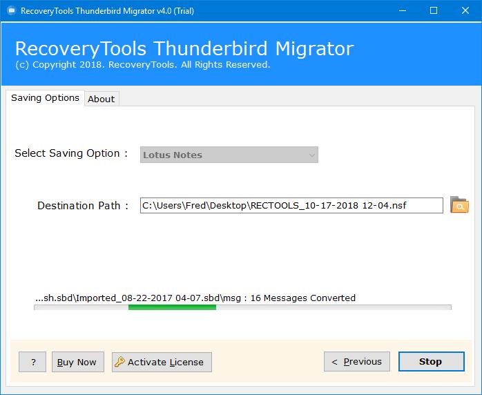 thunderbird import lotus notes emails