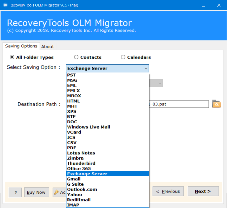 olm to exchange migration