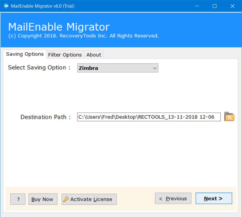 setup mailenable to zimbra desktop