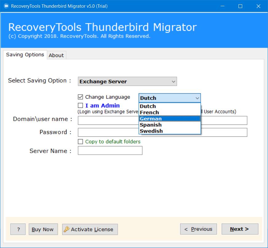 migrate thunderbird to exchange