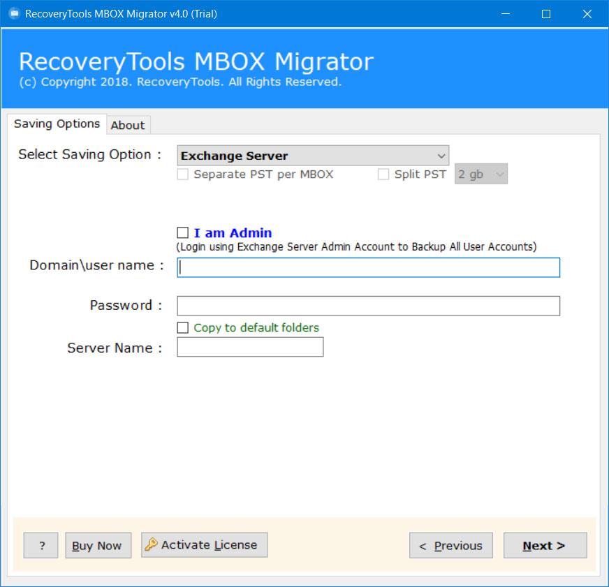 import mbox to exchange server