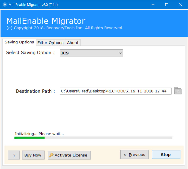 mailenable export to ics