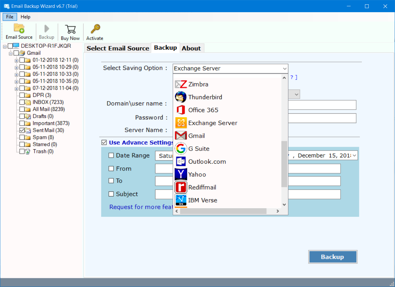 Hotmail to Exchange Migration – Import Hotmail to Exchange Server