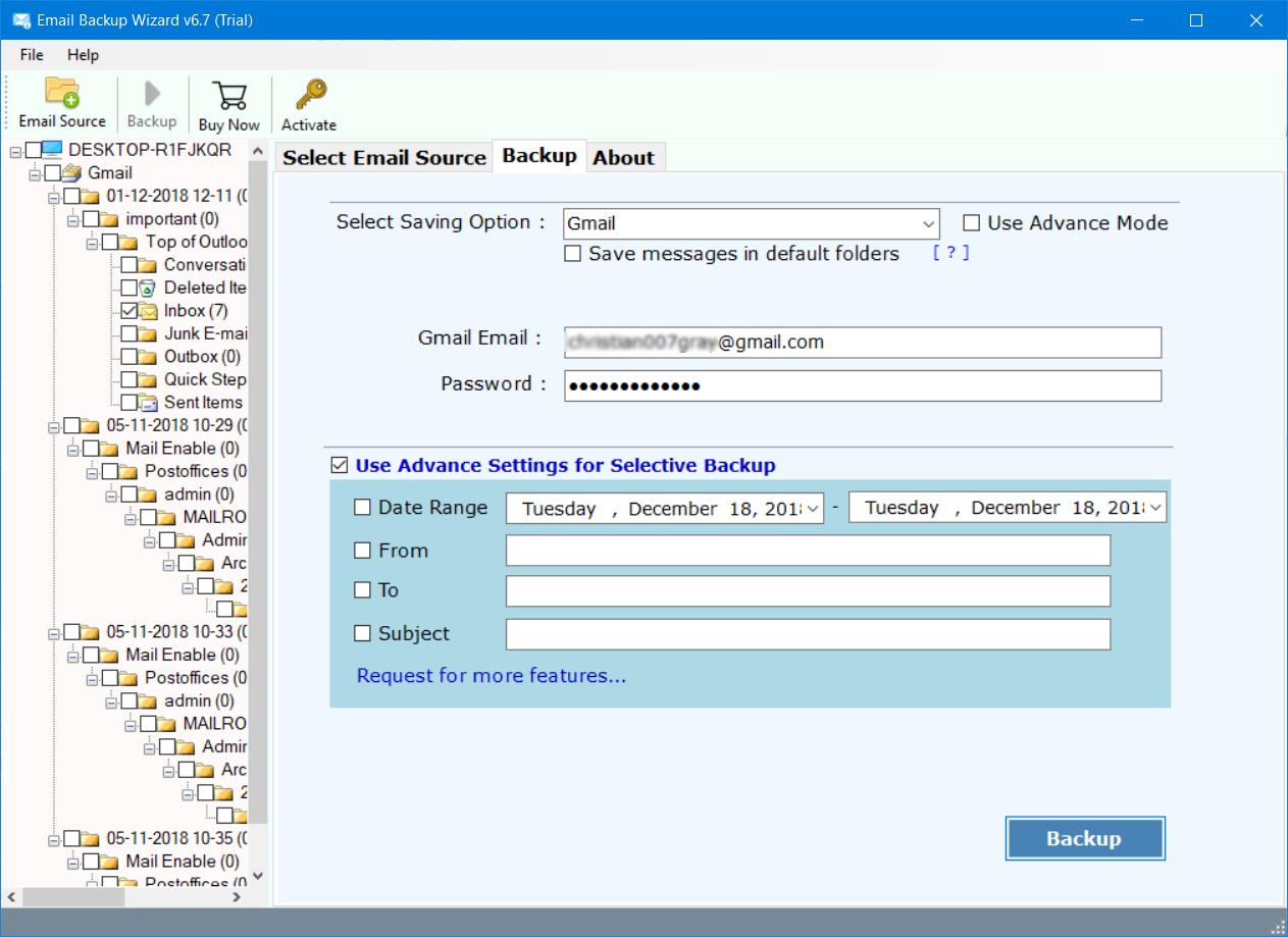 inmotion hosting to gmail