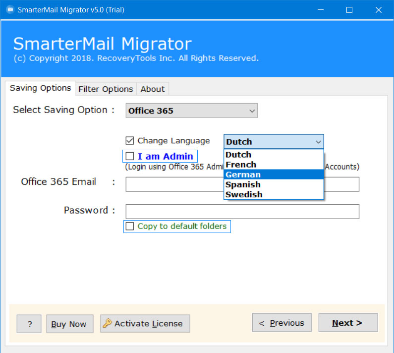 smartermail to office 365