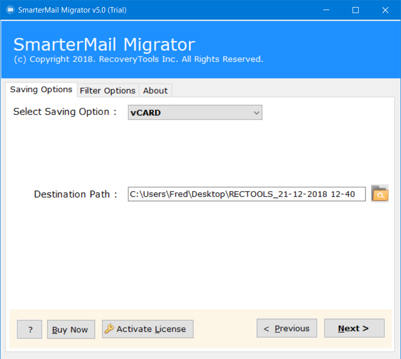 smartermail to vcf