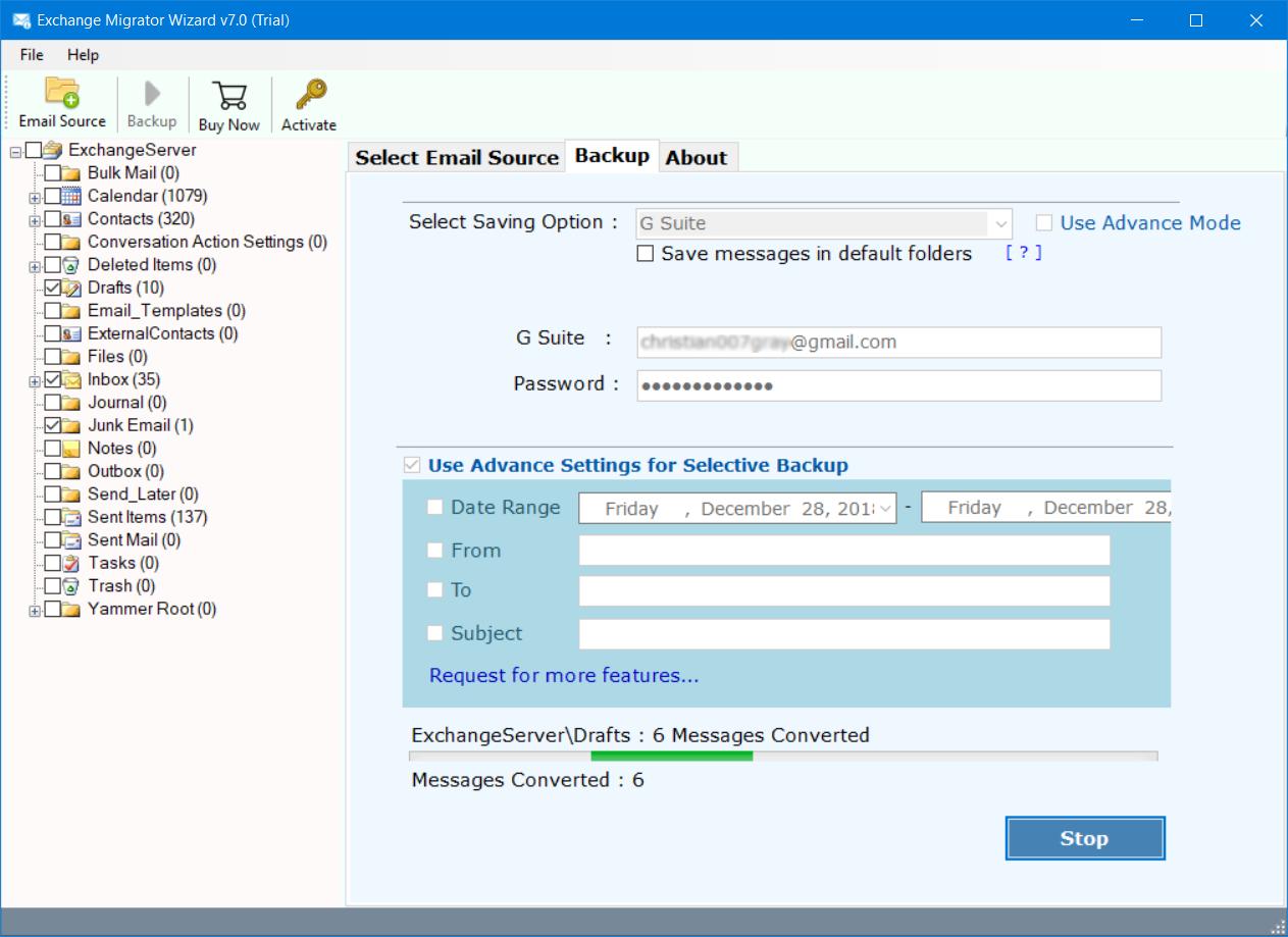 Microsoft exchange to gmail