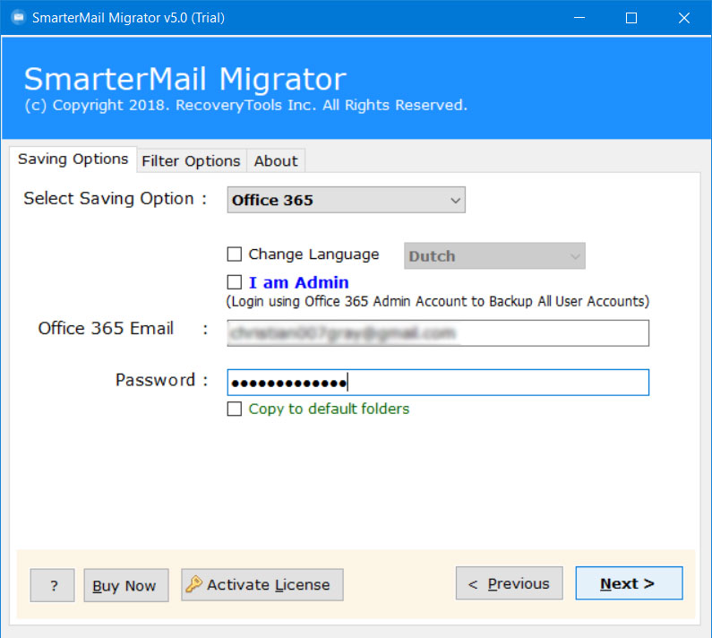 migrate smartermail to office 365