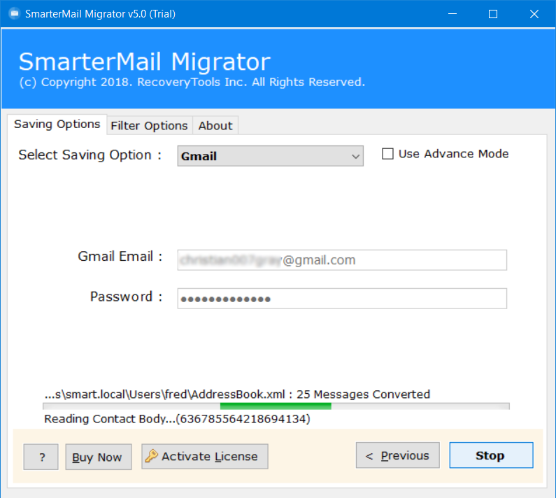 how to import smartermail data into gmail