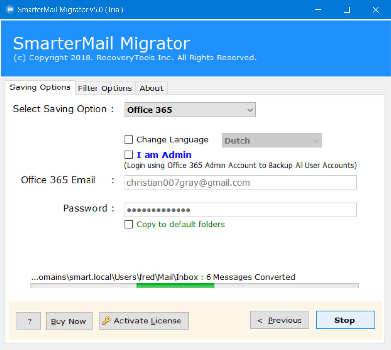 migrate from smartermail to office 365