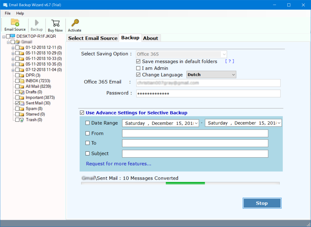 import Hotmail account to office 365