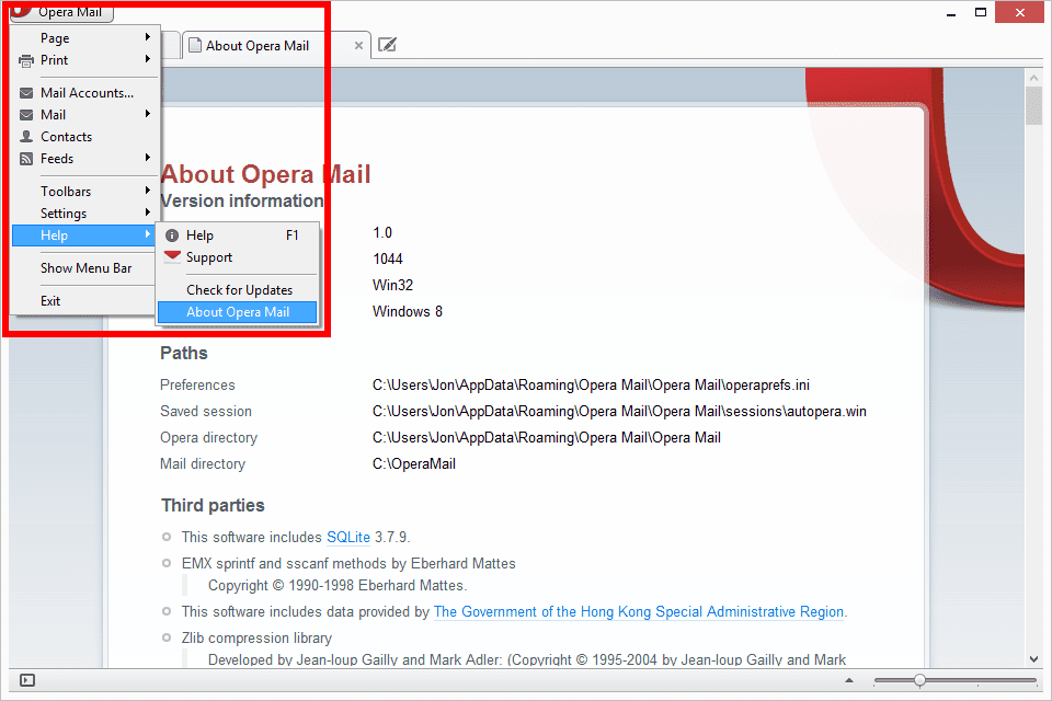 Opera mail to outlook
