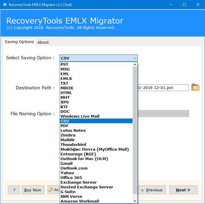 emlx to csv converter
