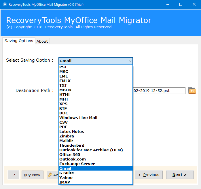 myoffice mail to gmail