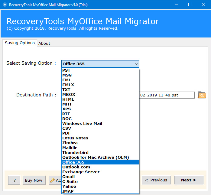 myoffice mail to office 365
