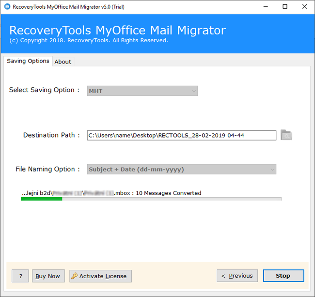 MyOffice Mail to MHT