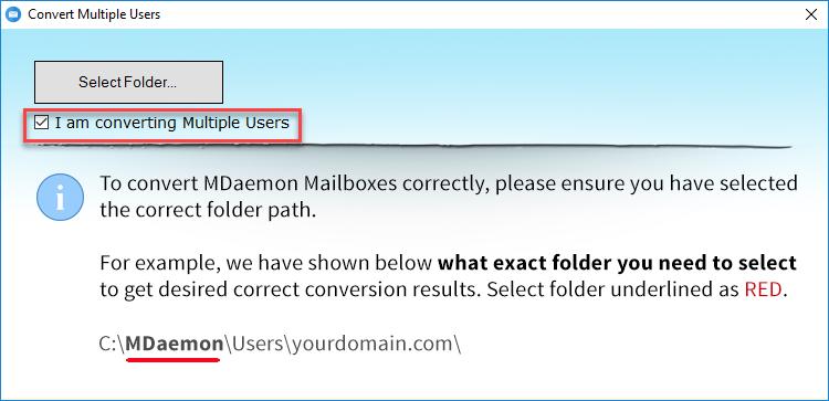 Multiple user converting option