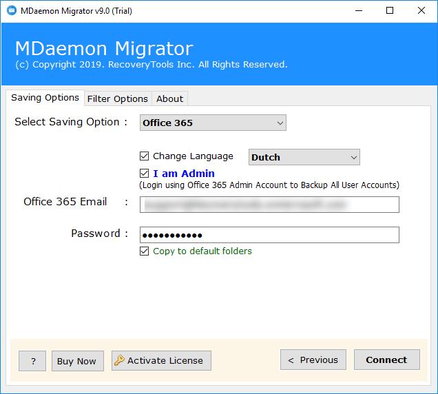 Office 365 as saving option