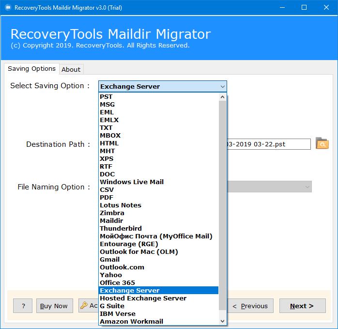 Dovecot to Exchange Migration – Migrate Dovecot Maildir to Exchange
