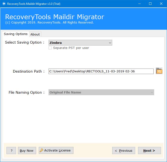 migrate maildir to zimbra