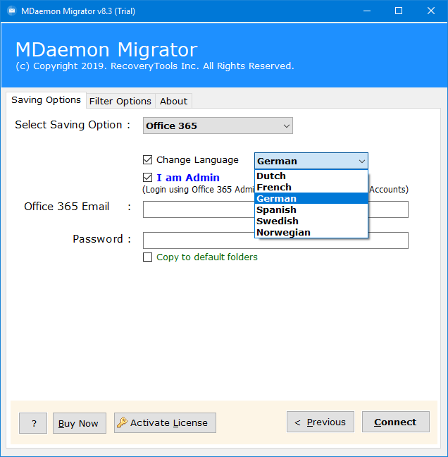 mdaemon to office 365 migration