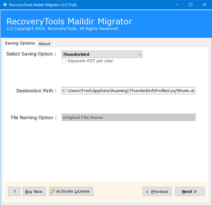 Dovecot to Thunderbird Migration - Import Dovecot Maildir to
