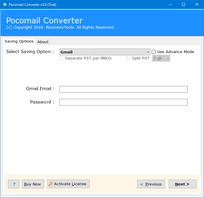 pocomail to g suite