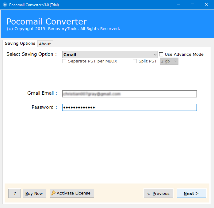 pocomail to google apps