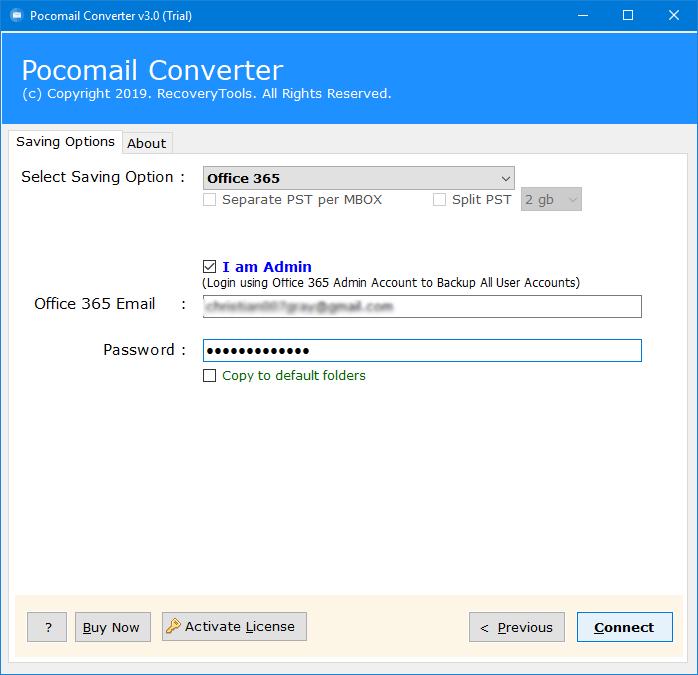 pocomail to exchange online
