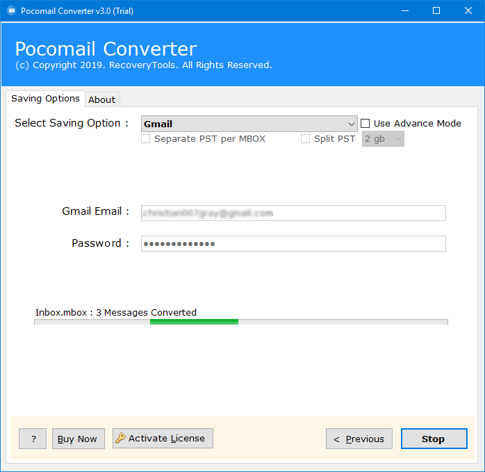 pocomail to google mail