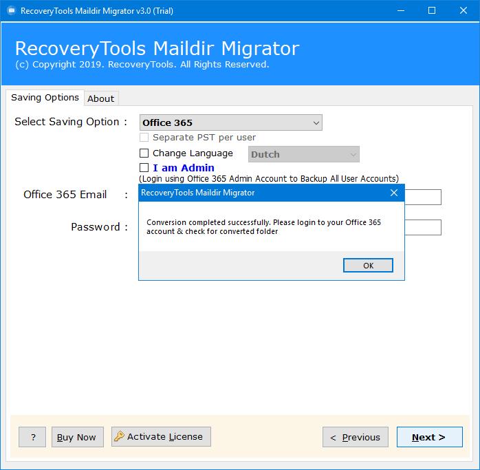 maildir to office 365 software