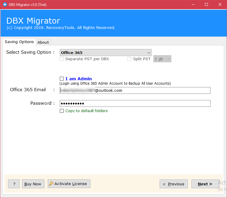 migrate outlook express dbx to office 365