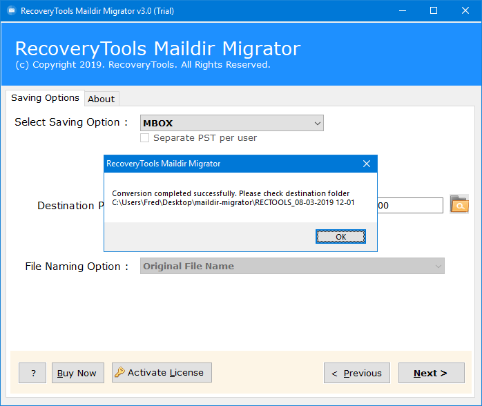 convert maildir to mbox windows