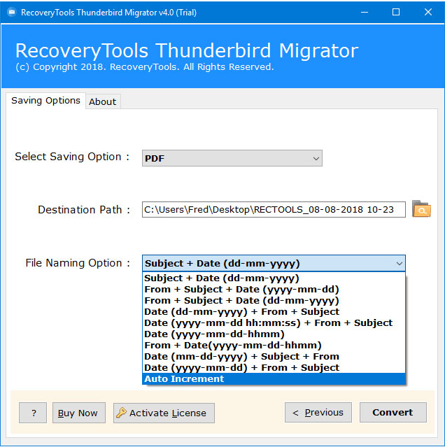 Thunderbird print to PDF