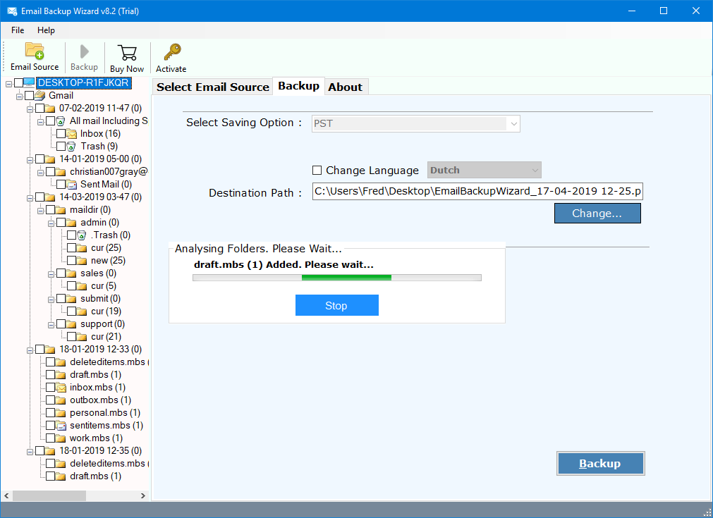 transfer gmail to icloud