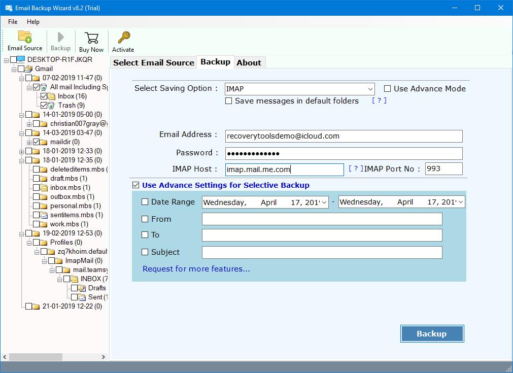 gmail backup to icloud