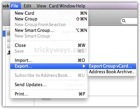 export-address-book-vcard